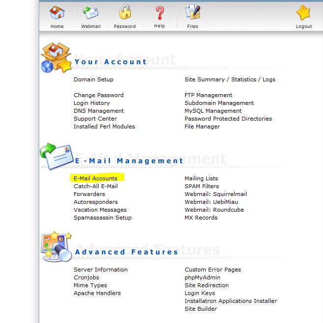 E-Mail Accounts